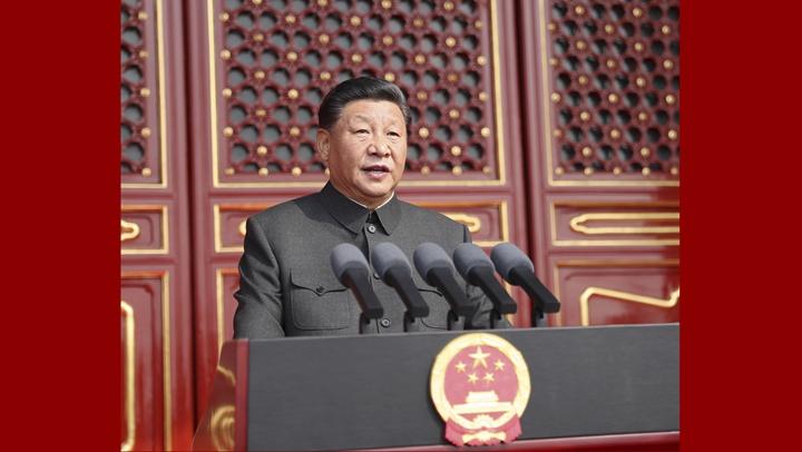 慶祝中華人民(min)共和國成(cheng)立(li)70周年大會在京隆重舉行
