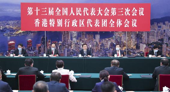 韓正參加全國人(ren)大香港代表團審議